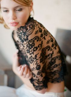 2014 black lace bridal cover-ups, transparent embroidery cover-ups.