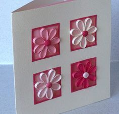 Paper Daisy: Quilled birthday card