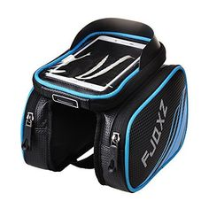 Bike Handlebar Bags - FJQXZ Bike Bag Bicycle Pannier Pouch Top Tube Bag Handlebar Saddle Bag with Touch Screen Phone Case *** Find out more about the great product at the image link.
