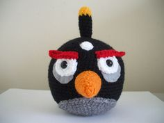 Angry BIrds - Black Bird - Adorable Amigurumi
