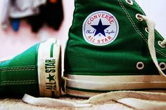 Memories of my sister begging ... and Mom (of course) making it happen!  Never forget those green converse ... I don't think hers were hightop though!