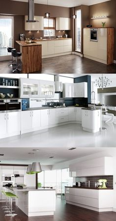 How to Create a High Gloss Kitchen   - For more go to >>>> http://interiordesign4.com/how-create-high-gloss-kitchen/  - Want to create a sleek and glossy kitchen without breaking the bank? If so, read the following tips. Choosing contrasting colors is an effective way to create a contemporary gloss kitchen. You can use black gloss kitchen cabinets to contrast with a white worktop, or use white gloss kitchen...