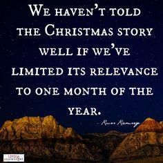 relevance of the christmas story