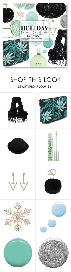 """Rockin' around the Christmas tree"" by sunshineb ❤ liked on Polyvore featuring Fraiche, Eos, Urban Decay, John Lewis, Topshop, Jin Soon, Burberry, giftguide, Christmas and romwe"