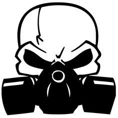 Biohazard Skull Die Cut Vinyl Decal PV736