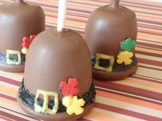 Pilgrim Hat Cake Pops for Thanksgiving by Cake Pop lady, via Flickr