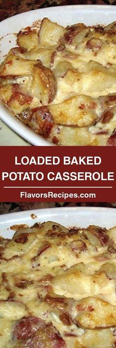 Loaded Baked Potato Casserole Talk about comfort food! This is a delicious dish that is always a hit! How can you go wrong with potatoes, . Potato Dishes, Veggie Dishes, Potato Recipes, Veggie Recipes, Cooking Recipes, Yummy Recipes, Potato Ideas, Cooking Kale, Dinner Recipes