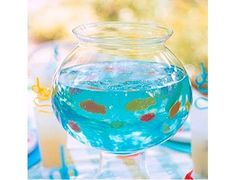 Blue Jello Fishbowl- so fun for summer parties!