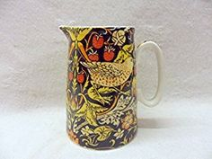 William morris strawberry thief design cream jug made for the Abbeydale collection for Heron Cross Pottery.: Amazon.co.uk: Kitchen & Home