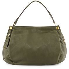 Oryany Kerry Leather Shoulder Bag ($250) ❤ liked on Polyvore featuring bags, handbags, shoulder bags, forest green, 100 leather handbags, leather shoulder bag, leather purse, shoulder handbags and leather shoulder handbags