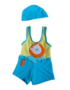 Cute Lion Boys Body Suits 2 Pcs Swimsuits, 3T, 1-2 Years Old Boy