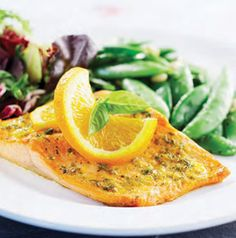 Tired of the same old thing? Give Orange Trout with Garlic and Herbs  a try. Trout is an oily fish similar to salmon and is a great source of lean protein. Plus it's delicious!