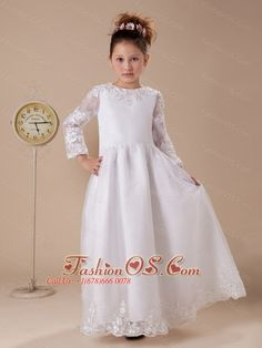Turquoise organza double layered flower girl dress my wedding lace a line white scoop organza and taffeta flower girl dress long sleeves http mightylinksfo Images