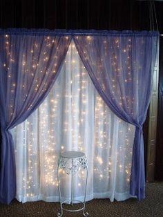 Lighted wedding backdrop