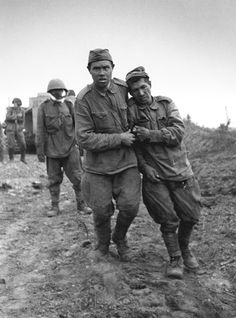 Wounded and dazed Red Army soldiers taken POW by the Germans near Lake Ladoga, Sept 1943.Hopes of survival for these wretches were very low. The uglier the war in the East became, the fewer POWs both sides were willing to take.