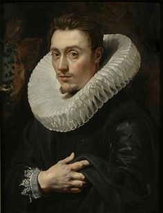 Peter Paul Rubens:  Portrait of a Young Man (1613-1615).  The eyes...