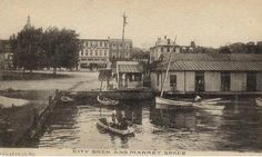 City Dock @ Market Space... Annapolis, MD...  circa early 1900's?