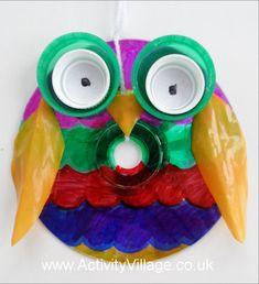 Owl Bird Scarer Craft Pinned by www.myowlbarn.com