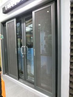 Sliding Mosquito nets for doors and windows Sturdy framed powder coated protection from pests and sun control Sliding screens such as sliding window screens sliding door screens are ideal for French doors and large openings. - April 13 2019 at House Design, Door Design, Terrace Furniture, French Doors, Balcony Doors, Windows, Window Design, French Doors With Screens, Exterior Sliding Barn Doors