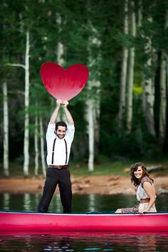 An adorable lakeside engagement session by AK Studio & Design