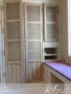 Making new shutters look aged!! Secrets of Segreto - Segreto Secrets Blog