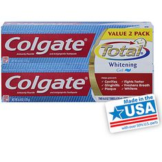Colgate Total Anticavity Fluoride & Antigingivitis Whitening Gel Toothpaste, 6 oz
