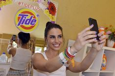 At the BMF Music Lounge during Coachella, sponsor Tide gave guests all the elements needed to take a selfie and easily share it. In a poolside suite at Palm Springs's Ingleside Inn, the brand decked out a mirror with floral appliques as well as the appropriate hashtag #TidePlus.  Photo: Lisa Rose