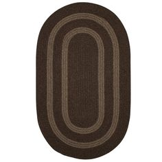 Darby Home Co Westfield Hand-Woven Brown Area Rug Rug Size: Oval 5' x 8'