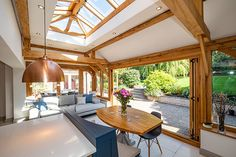 Julius Bahn specialises in building the finest oak-framed orangeries, perfect for both traditional and contemporary, kitchen and home extensions. Oak Framed Extensions, House Extensions, Extension Ideas, Folding Doors, Indoor Outdoor Living, Design Consultant, Sunroom, Gazebo, Buildings