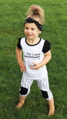 Trendy Adorable Kids Summer Capri Outfit set!