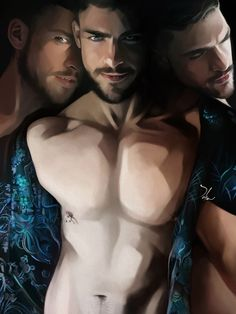 Book cover artwork - Lestat, Lucifer and Dorian