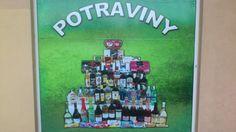 """También había """"Potraviny"""" , esbtaba más cerca que Albert, pero ne tenían tantas cosas."""