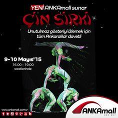 Çin Sirki #ANKAmall'da!  9 - 10 Mayıs tarihlerinde 16:00 - 19:00 saatlerinde unutulmaz gösteriyi izlemek için tüm Ankaralılar davetli!