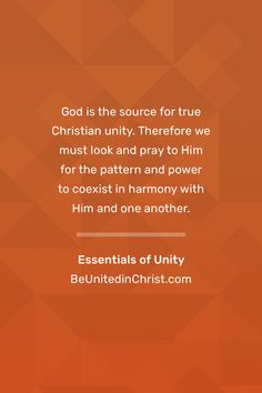 Unity matters to God, so it should matter to us. Essentials of Unity explains what Christian unity is, why it matters, and what believers should do to live it. Essentials of Unity provides a Biblical introduction and overview of Christian unity. The Bible tells the amazing story of creation, man's sin, and God's gracious response to restore sinners to Himself—even at the cost of His own Son. We are part of that story, ambassadors of God's reconciling grace. Unity Quotes, Church Graphic Design, No Response, Believe, Prayers, Ebooks, Essentials, Lord, Bible