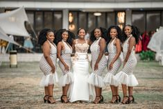 A Gorgeous Tswana Wedding With The Bride Dressed In BMashiloDesigns South African Wedding Dress, African Traditional Wedding Dress, African Wedding Attire, South African Weddings, Traditional Weddings, Wedding Bridesmaid Dresses, Brides And Bridesmaids, Emo Dresses, Party Dresses