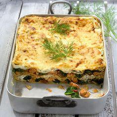 Lasagne met zalm en spinazie Recept | Weight Watchers België