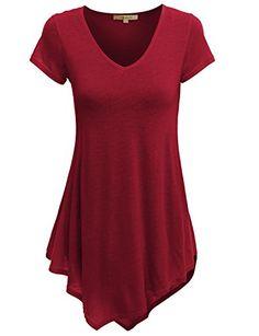 Doublju Women Fasionable Colorful Short Sleeve Plus Size Tunic DARKRED,XL Doublju http://www.amazon.com/dp/B00W0YHKCU/ref=cm_sw_r_pi_dp_1DY8vb05ZWJD0