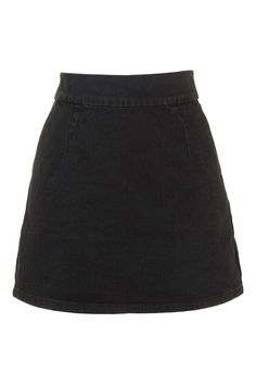 b7185aa07c5b2 MOTO Clean-Cut Denim Mini Skirt. Topshop