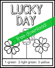 Ucreate with Kids: Saint Patrick's Day Printables {color by number}