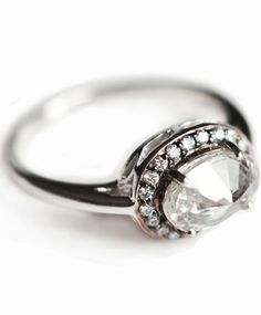 Modern Engagement Ring For Young Horizontal Oval Diamond