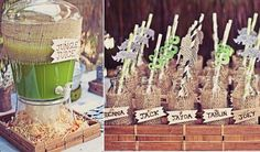 Safari party ideas, love the jungle juice and using burlap and zebra duct tape for decorating the cups