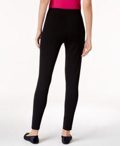 Alfani Petite Seamed-Back Leggings, Created for Macy's - Black P/XS