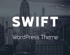 """Check out new work on my @Behance portfolio: """"SWIFT - Business WordPress Theme"""" http://on.be.net/1Ghq6qw"""