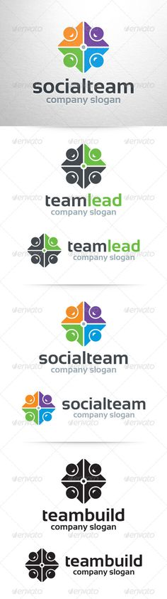 The Team Logo TemplateA modern logo template for social media websites, teambuilding, business teams and groups, team leaders and