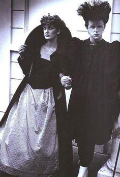 Steve Strange and Francesca Von Thyssen model Judith Frankland.