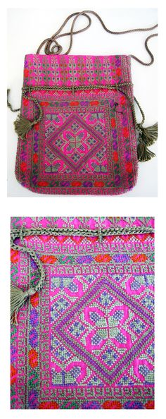 When I was in Beirut, Lebanon, 2013,I cam across the Palestinian Embroidery, I purchased this beautiful little bag from the Association for the development of Palestinian Camps (Inaash) this is a Lebanes social and cultural association founded in 1969 by a group of Lebanese and Palestinian women who foresaw the necessity of preserving the heritage of traditional Palestinian embroidery. It was an initiative that would also bring means of financial support to many needy families in the camp