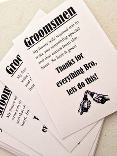Groomsmen thank you tags by KikiBox on Etsy, $3.00