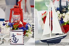 nautical wedding menu program