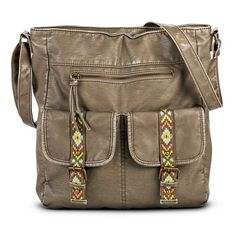 Aztec Detail Pocket Tote Handbag - Taupe - Mossimo Supply Co.™