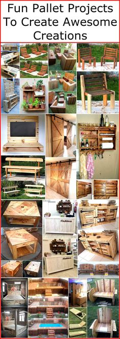 Recycled wood pallet furniture has become popular these days because of its multi-functional utility. At the same time we get a function from our craft while having to serve it as a decor purpose. The inexpensive nature of reused wood pallet furniture adds to its function. We are presenting fun pallet projects to create awesome creations here. We offer variety of ideas for your in house and outer space use.